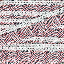 Spindled Lace ribbon 27mm - 14th of july x 1m