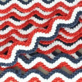 Color-fast serpentine 58 mm - 14th of July x1m