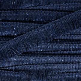 Gala fringe braid ribbon - midnight blue/shiny x 1m