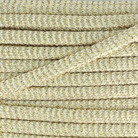 Spectacle flat braid cord - gold x1m