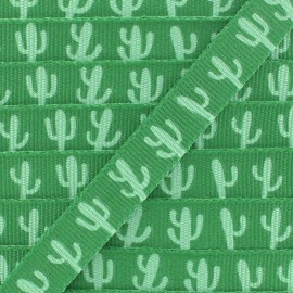 Grosgrain Ribbon pineapples 10 mm -  Green x 1m