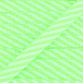 Grosgrain Ribbon Stripes 10 mm - Fluo Green x 1m