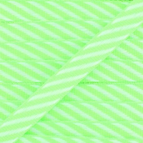 Grosgrain Ribbon Stripes 10 mm - Fluo Green x 1m