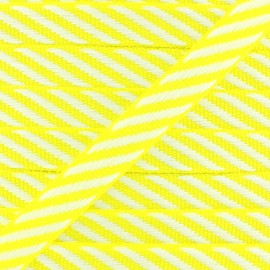 Grosgrain Ribbon Stripes 10 mm - Fluo Yellow x 1m
