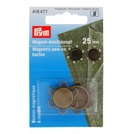 Bouton magnétique à coudre Prym 25mm - bronze x 1