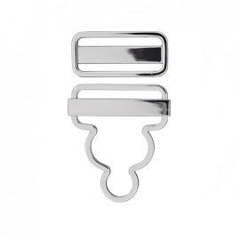 Brillance dungaree fasteners - silver