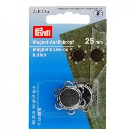 Bouton magnétique à coudre Prym 25mm - argent x 1