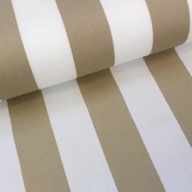 ♥ Coupon 95 cm X 43 cm ♥ Deckchair Canvas Fabric - Playa stripes white/beige