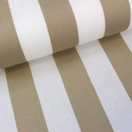 Deckchair Canvas Fabric - Playa stripes white/beige (43cm) x 10cm