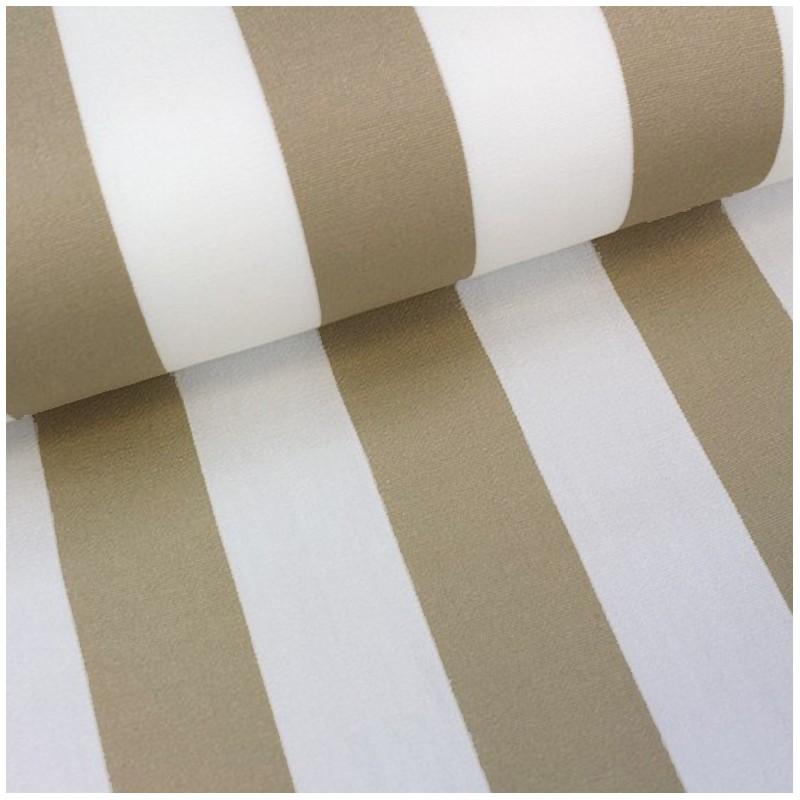 tissu toile transat playa rayures blanc beige 43cm x. Black Bedroom Furniture Sets. Home Design Ideas