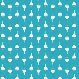 Tissu coton Dashwood Confetti - Flower Seed x 10cm