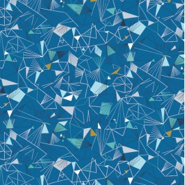 Dashwood cotton fabric Norrland - Mid Blue x 10cm