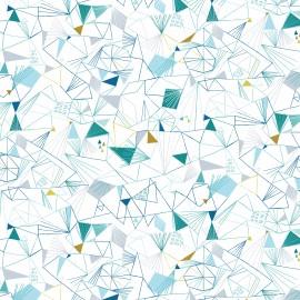 Dashwood cotton fabric Norrland - Ice White x 10cm