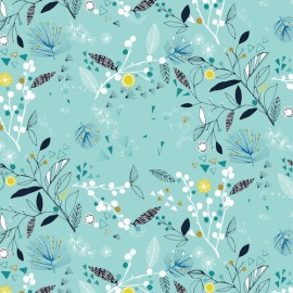 Dashwood cotton fabric Norrland - Foliage x 15cm