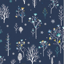 Dashwood cotton fabric Norrland - Tree x 30cm