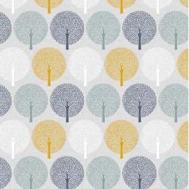 Dashwood cotton fabric Birdsong- Spot Trees x 16cm