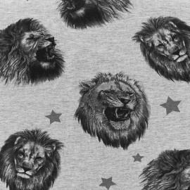 Jersey fabric Lions - grey x 28cm