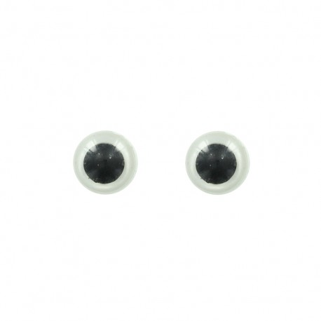 Security eyes to clip (a pair) - white