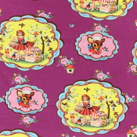 Jersey fabric Let's bake - violine x 17cm