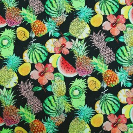 Coated cotton fabric Pynia - multi x 10cm