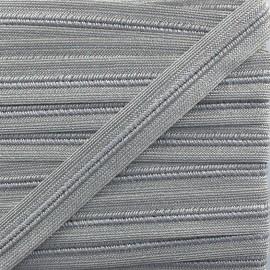 Galon maille lurex Spectacle - argent x1m