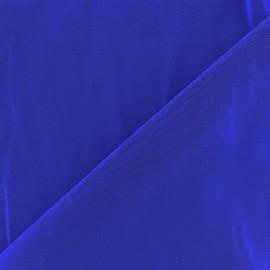 Tissu gainant résille silhouette - bleu égyptien x 10 cm
