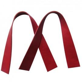 Rib bag-handles Rosso - red