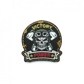 Thermocollant brodé Biker - victory noir