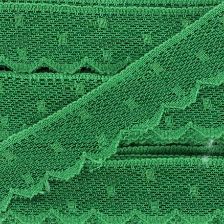 Ribbon Scalloped Lace Point d'esprt - green x 1m