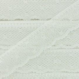 Ruban Dentelle festonnée Point d'esprit - blanc écru x 1m