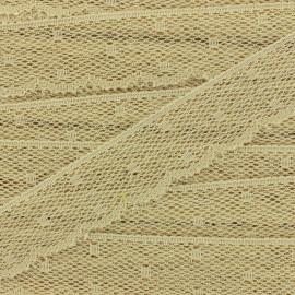 Ruban Dentelle festonnée Point d'esprit - beige x 1m