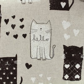 Cotton canvas fabric Gattino - black x 31cm