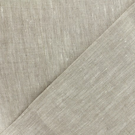 Linen canvas Fabric - Linthal natural x 10cm