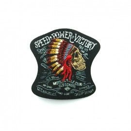 Native gang Embroidered iron-on patch - speed