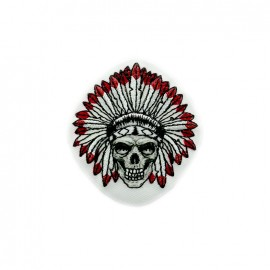 Native gang Embroidered iron-on patch - skull