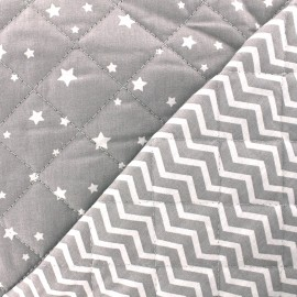 Quilted cotton fabric Zetoile/Tezy - grey x 10cm