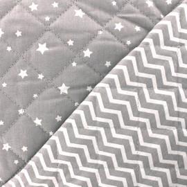 Tissu matelassé Zetoile/Tezy - gris x 10cm