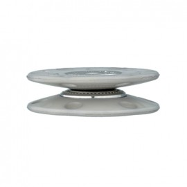 Cercle snap button to sew - grey