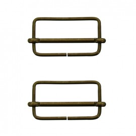 Isa sliding bar adjuster buckle - old gold