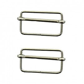 Isa sliding bar adjuster buckle - silver