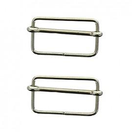 Isa sliding bar adjuster buckle - silver