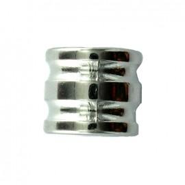Ana cord end piece - silver