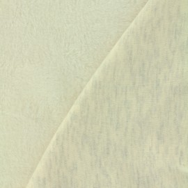 Plain Sweat with minkee reverse side fabric - mocked off-white x 10cm