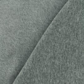 Plain Sweat with minkee reverse side fabric - grey x 10cm