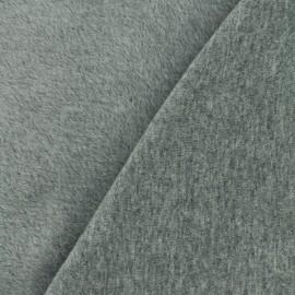Tissu sweat envers minkee Uni - gris x 10cm