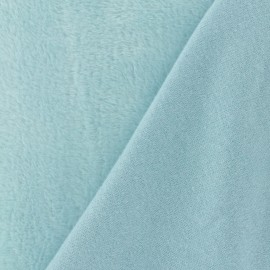 Plain Sweat with minkee reverse side fabric - sky blue x 10cm