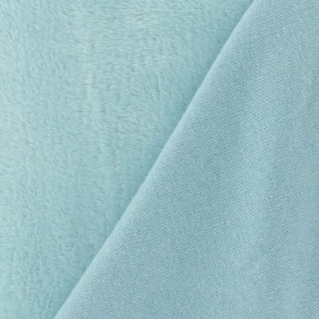 Plain Sweat with minkee reverse side fabric - sky blue x 10cm
