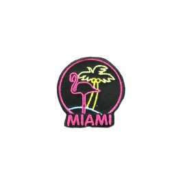 America America embroidered iron-on patch - miami