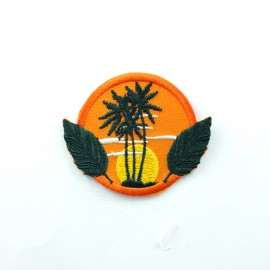 America America embroidered iron-on patch - florida