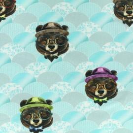 Tissu jersey Poppy Big Bear - ciel x 27cm